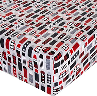 product image for Glenna Jean Crib Fitted Sheet, Thermos, Red/White/Black, Mini