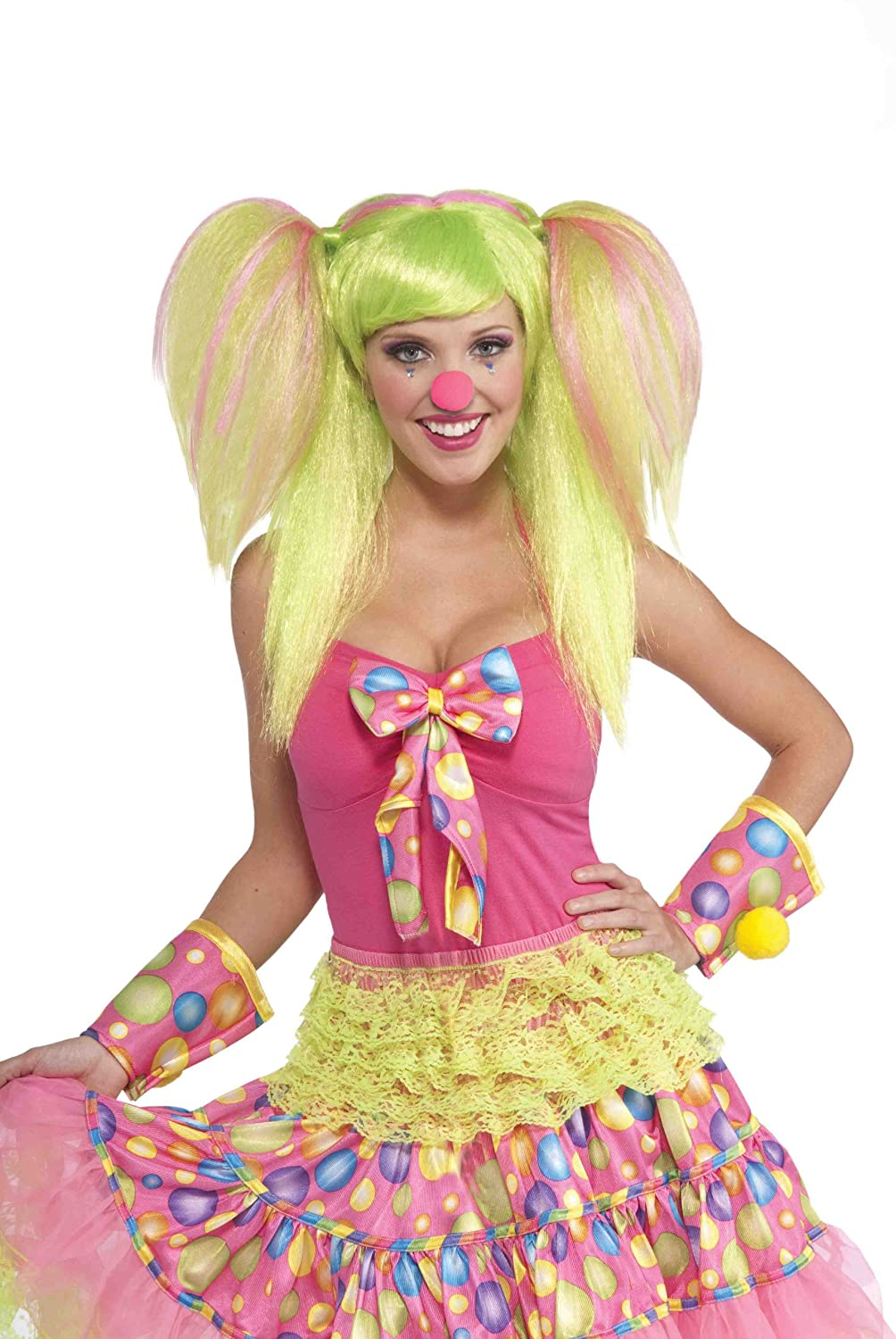 Amazon.com Forum Novelties Womenu0027s Circus Sweetie Costume Wig Green/Pink One Size Clothing  sc 1 st  Amazon.com & Amazon.com: Forum Novelties Womenu0027s Circus Sweetie Costume Wig ...