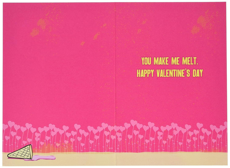 Amazon 2219 Ice Cream Funny Valentines Day Greeting Card