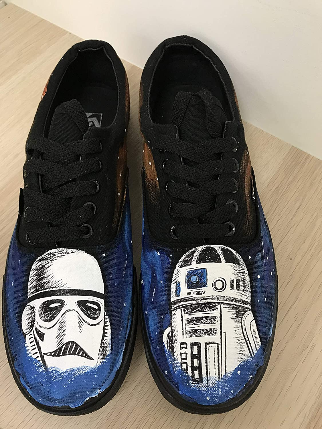 4fbb24ba8c62d Amazon.com: Star Wars Galaxy Vans Shoes Custom Vans Authentic Custom ...