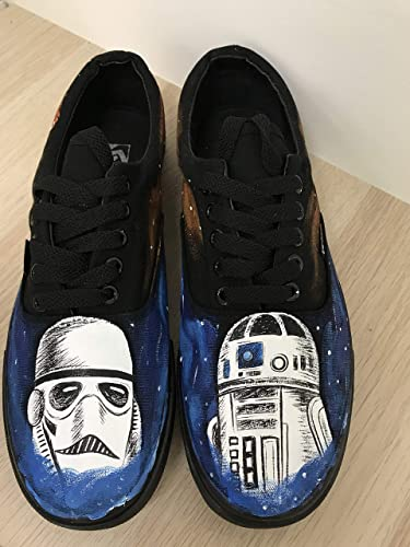 690da53ea9 Star Wars Galaxy Vans Shoes Custom Vans Authentic Custom Shoes Vans  Authentic Custom Hand Painted Shoes Hand Painted Vans Authentic Custom Vans  Sneakers ...