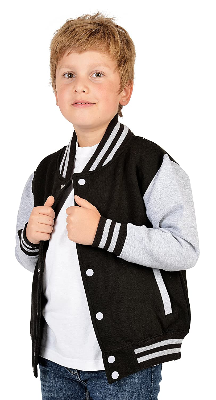 Kinder Rockabilly Jacke Jungen College Weisser Tiger ...