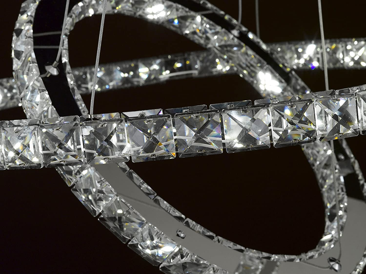 Crystal Elipse Ring Chandelier LED Chandeliers ModernContemporary