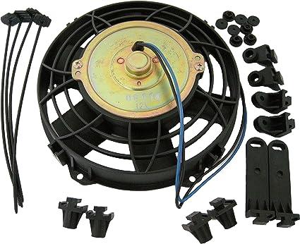 techniks fan102 Radiador ventiladores Pull Ventilador, 12 V, 25,4 ...