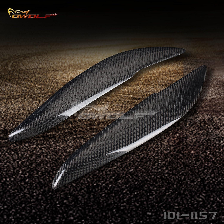 Real de fibra de carbono pá rpado Cejas Cubierta del faro par car-wear