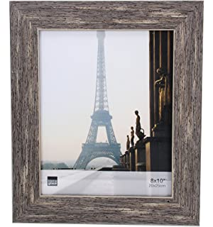 kiera grace emery picture frame 8 by 10 inch weathered grey reclaimed wood finish