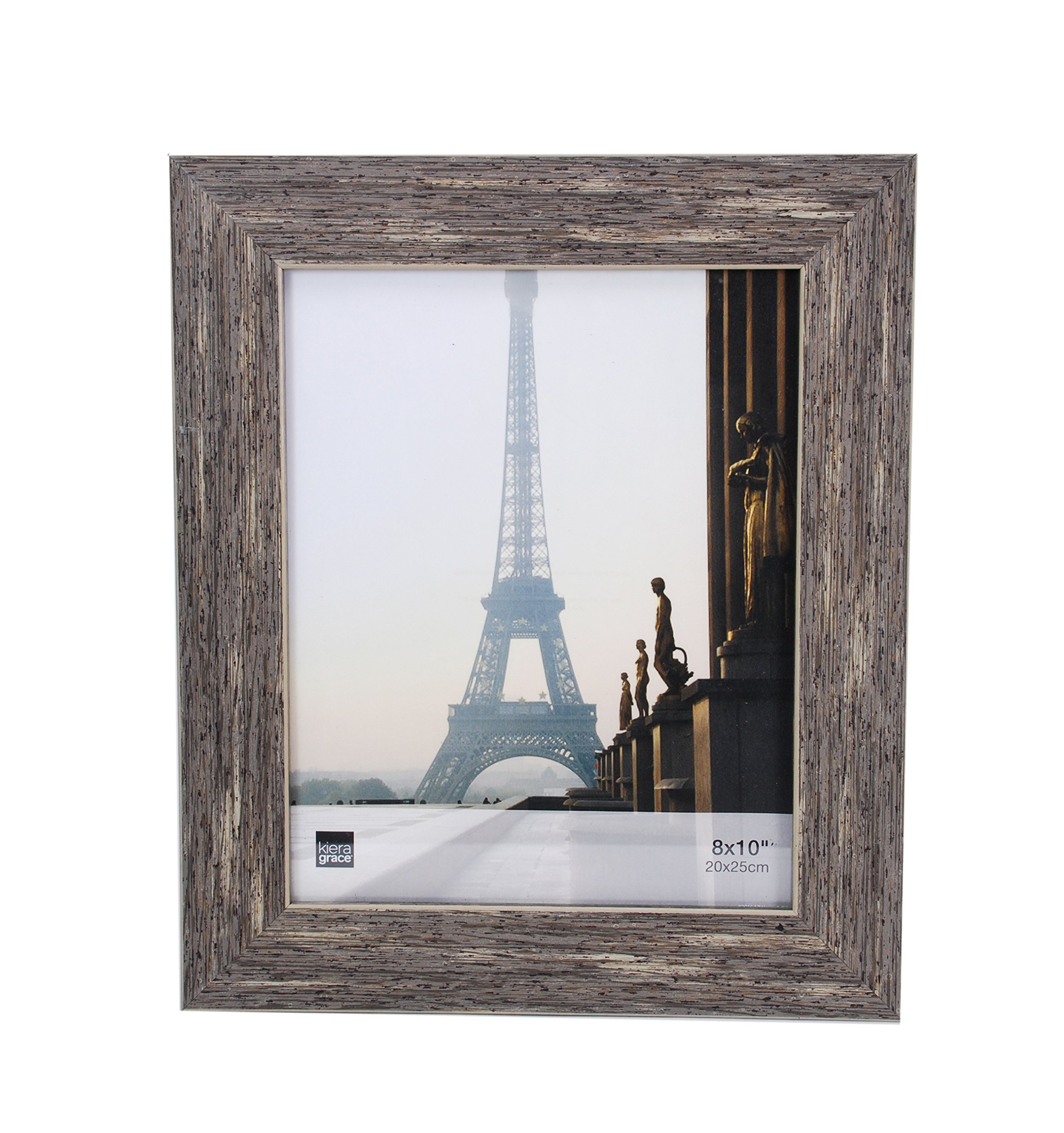 kieragrace Emery Picture Frame, 8 by 10-Inch, Plastic Resin, Weathered Grey Reclaimed Wood Finish by kieragrace