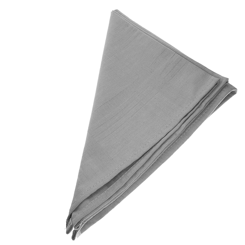 6er Pack Textil Servietten 45 x 45cm 100/% Baumwolle 4 seitig einges/äumt Grau