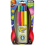 Mr. Sketch Scented Stix Markers, Fine Tip, Intergalactic Neon Colors, 6-Count
