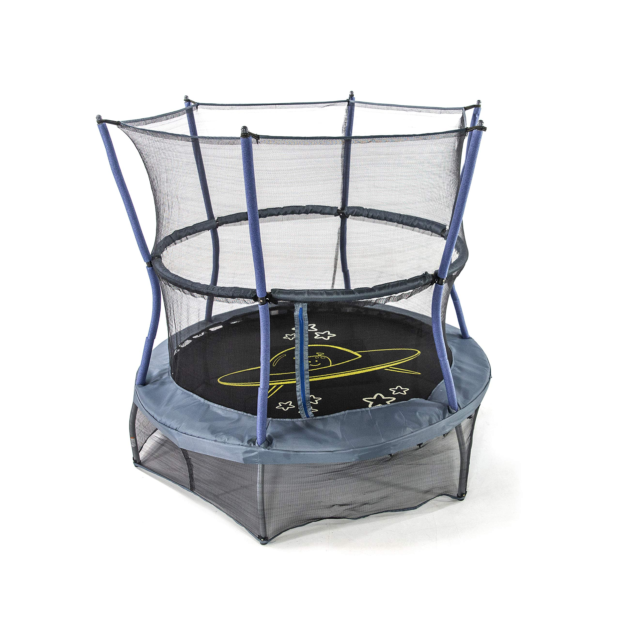 Durable Fitness Trampoline Kids Trampoline with Enclosure Net Indoor Outdoor Trampoline for Boys Grils Children Toddler 1.4m//55inch Colorful Trampoline with Safety Net,Seaballs,Basketball Hoop