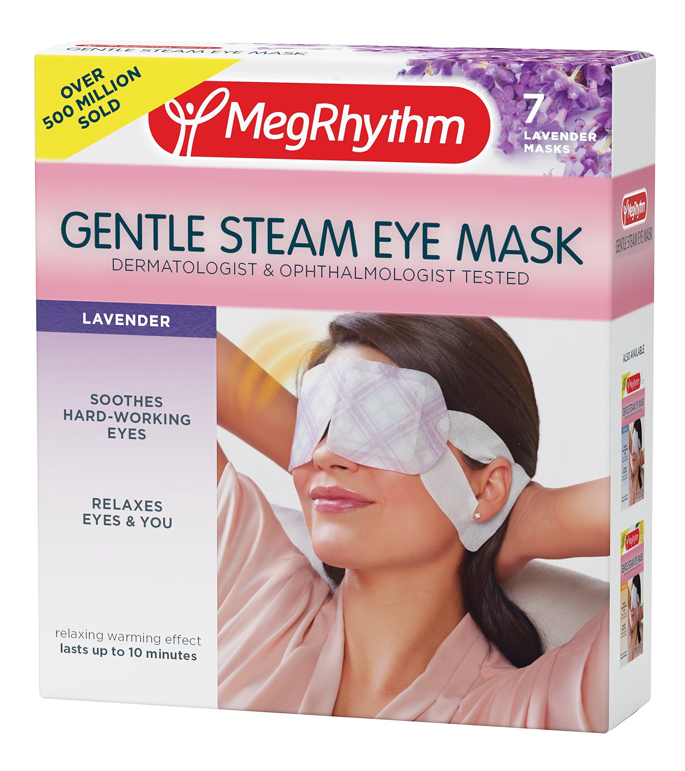 MegRhythm Gentle Steam Eye Mask, Lavender, 7 Count by MegRhythm