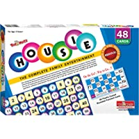 Toymate Playmate HOUSIE-48 Reusable Cards Family Game-(Bingo-Lotto-Tombola Game)