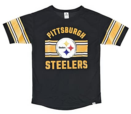 b62bb56ea Image Unavailable. Image not available for. Color  Victoria s Secret Pink  Pittsburgh Steelers Bling Mesh Shirt ...