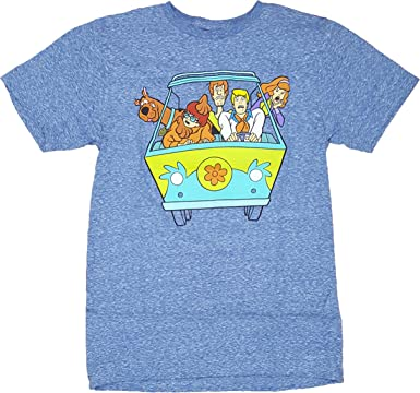 Scooby Doo Cartoon THE MYSTERY MACHINE Licensed Adult T-Shirt All Sizes