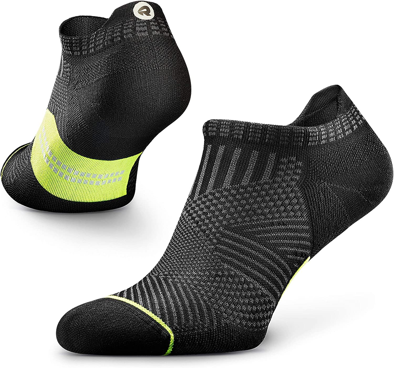 ROCKAY Accelerate - Calcetines Deportivos con Talón de Compresión para Hombres y Mujeres, Running, Anti-ampollas y con Soporte de Arco (1 par)