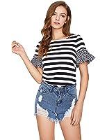 Floerns Women's Short Sleeve Summer Casual T Shirt