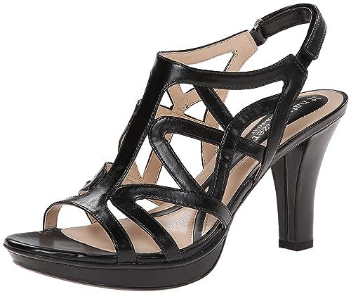 31724ae4b86a Naturalizer Women s Danya Platform Dress Sandal Black  Amazon.co.uk ...