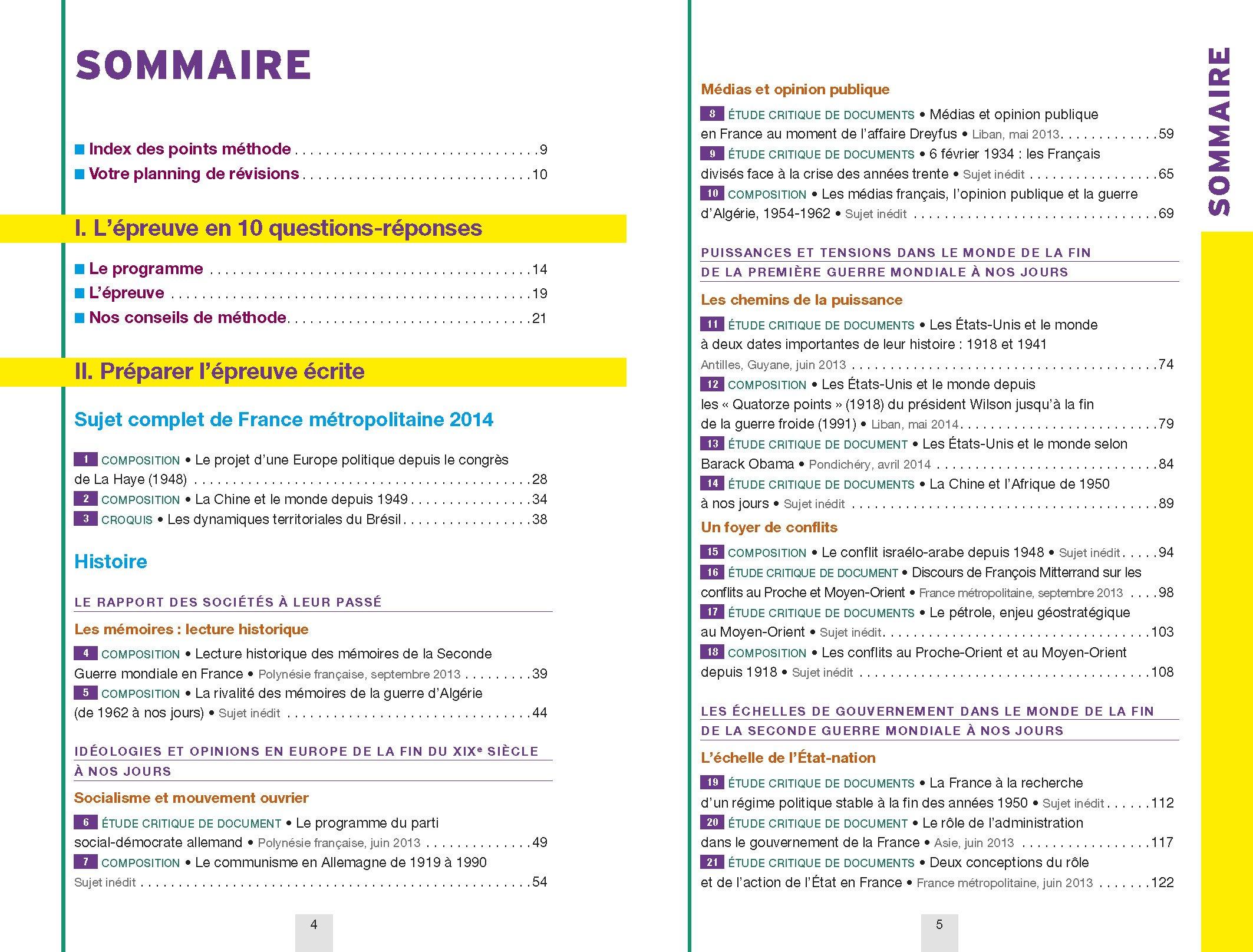 Histoire Géographie Tle séries L, ES : Sujets et corrigés: Christophe Clavel, Jean-François Lecaillon, Florence Smits, Nicolas Smaghue, ...