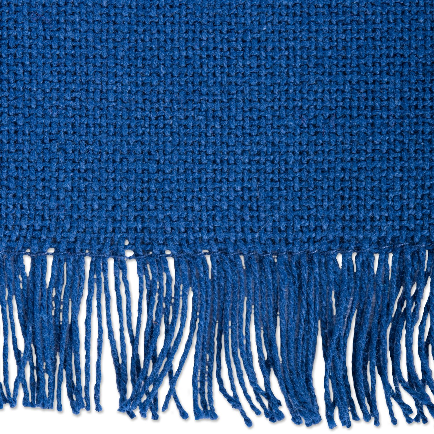 DII 100% Cotton, Oversized Basic Everyday Woven Heavyweight Napkin with Decorative Fringe for Place Settings, Family Dinners, BBQ, and Holidays (20x20'', Set of 6) Navy Blue Solid by DII (Image #4)