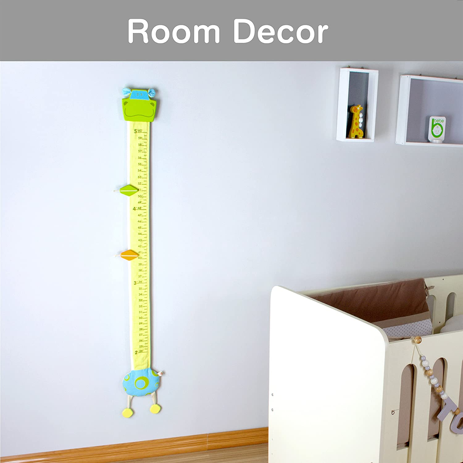 Ltd. Horse Height Measurement Im Wood and Fabric Wall Growth Chart Scale Ruler for Kids I/'m International Co