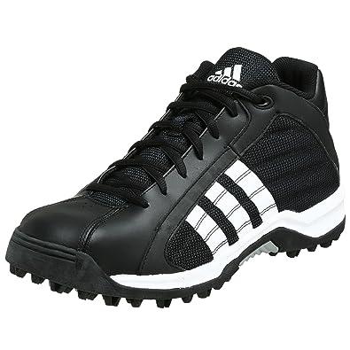 e85d01b9e813 adidas Men's Turf Hog LE Mid Football Cleat,Black/Running White/Metallic  Silver