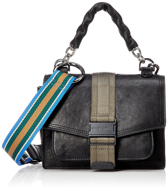 (ディーゼル) DIESEL レディース 2WAY ハンドバッグ MISS-MATCH MISS-MATCH CROSSBODY S shoulder bag X05595P1743 B07CNZ8KBJブラック UNI (Free)