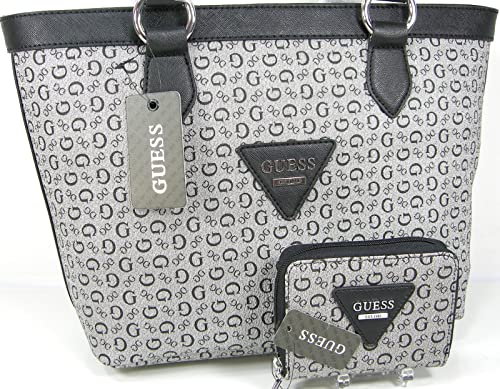 Image Unavailable. Image not available for. Color  New Guess G Logo Purse  Tote Bag   Zip Around Wallet 2 Piece Matching Set Black 0594df55eb51b