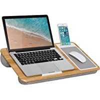 $29 » Home Office Lap Desk with Device Ledge, Mouse Pad, and Phone Holder - Oak Woodgrain - Fits Up to 15.6 Inch Laptops - Style No.…