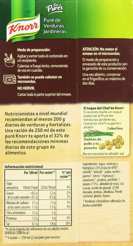 Knorr Puré de Verduras La Jardinera - 500 ml: Amazon.es: Alimentación y bebidas