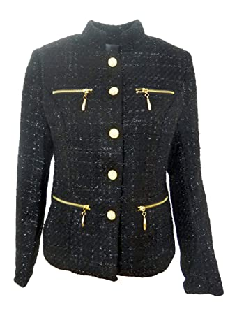 4a648a65f4be WOMENS TWEED BLAZER LADIES FITTED COAT BLACK ,BEIGE, NAVY SIZE 8-12 ...