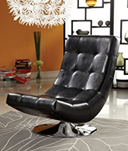 Furniture of America TRINIDAD Arm Chair, Black