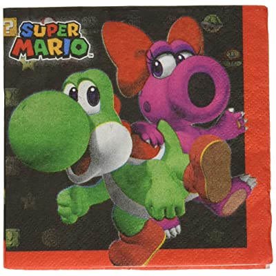 Super Mario Brothers Beverage Napkins, Party Favor: Toys & Games