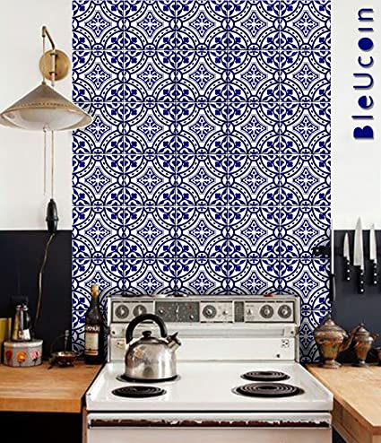Ordinaire Bleucoin Portugal Terracotta Inspired Tile Stickers, Kitchen And Bathroom  Backsplash Tile Decal, Stair Riser