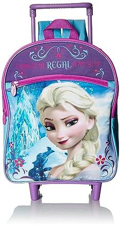Amazon.com   Disney Girls' Elsa 12 Rolling Backpack, Purple   Kids ...