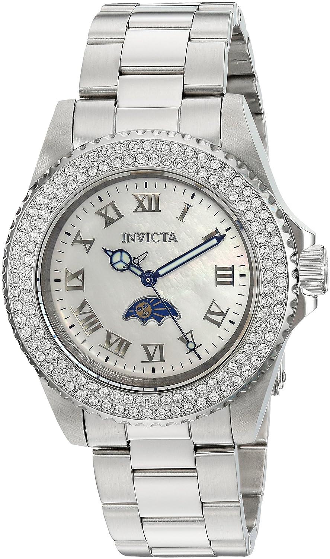 Amazon.com: Invicta Women's 'Sea Base' Quartz Stainless Steel Casual Watch,  Color:Silver-Toned (Model: 23829): Invicta: Watches