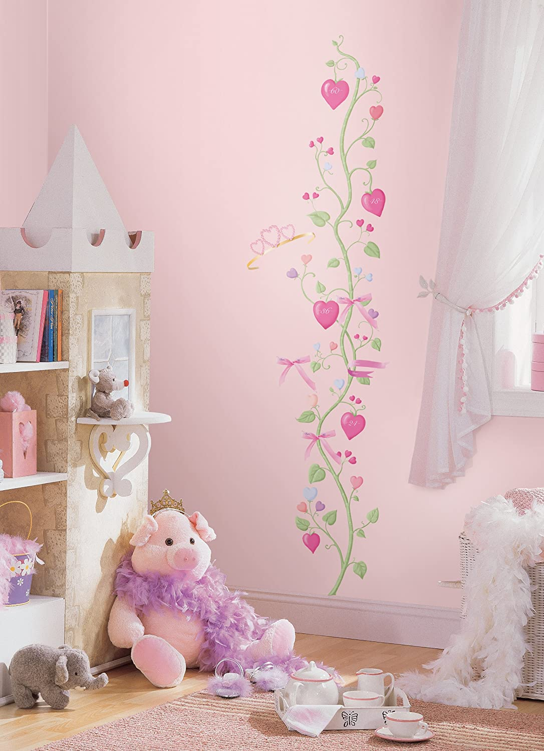 roommates repositionable childrens wall sticker fairy princess roommates repositionable childrens wall sticker fairy princess height chart cm amazon co uk kitchen home