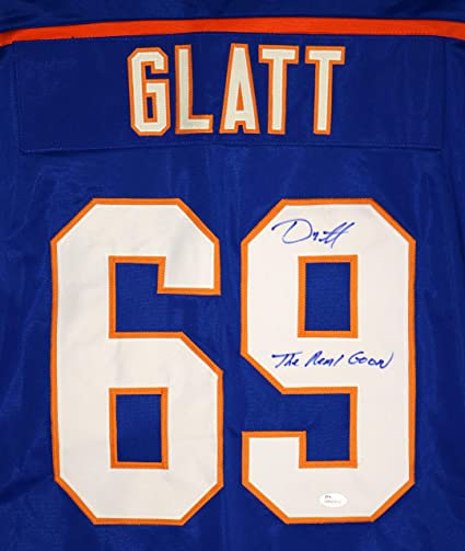 e5713f44f Doug Glatt Halifax Highlanders Signed Autographed Custom Blue #69 Jersey by  Doug Smith The Goon Witnessed JSA COA at Amazon's Sports Collectibles Store