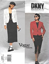 Vogue 1306 Donna Karan New York Misses Suit Jacket and Skirt Sewing Pattern Sizes 8