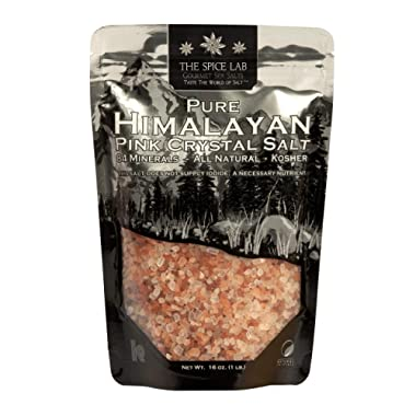 The Spice Lab Pink Himalayan Salt - Gourmet Pure Crystal - Nutrient and Mineral Dense for Health - Kosher and Natural Certified (1 Kilo Coarse Refill Bag)