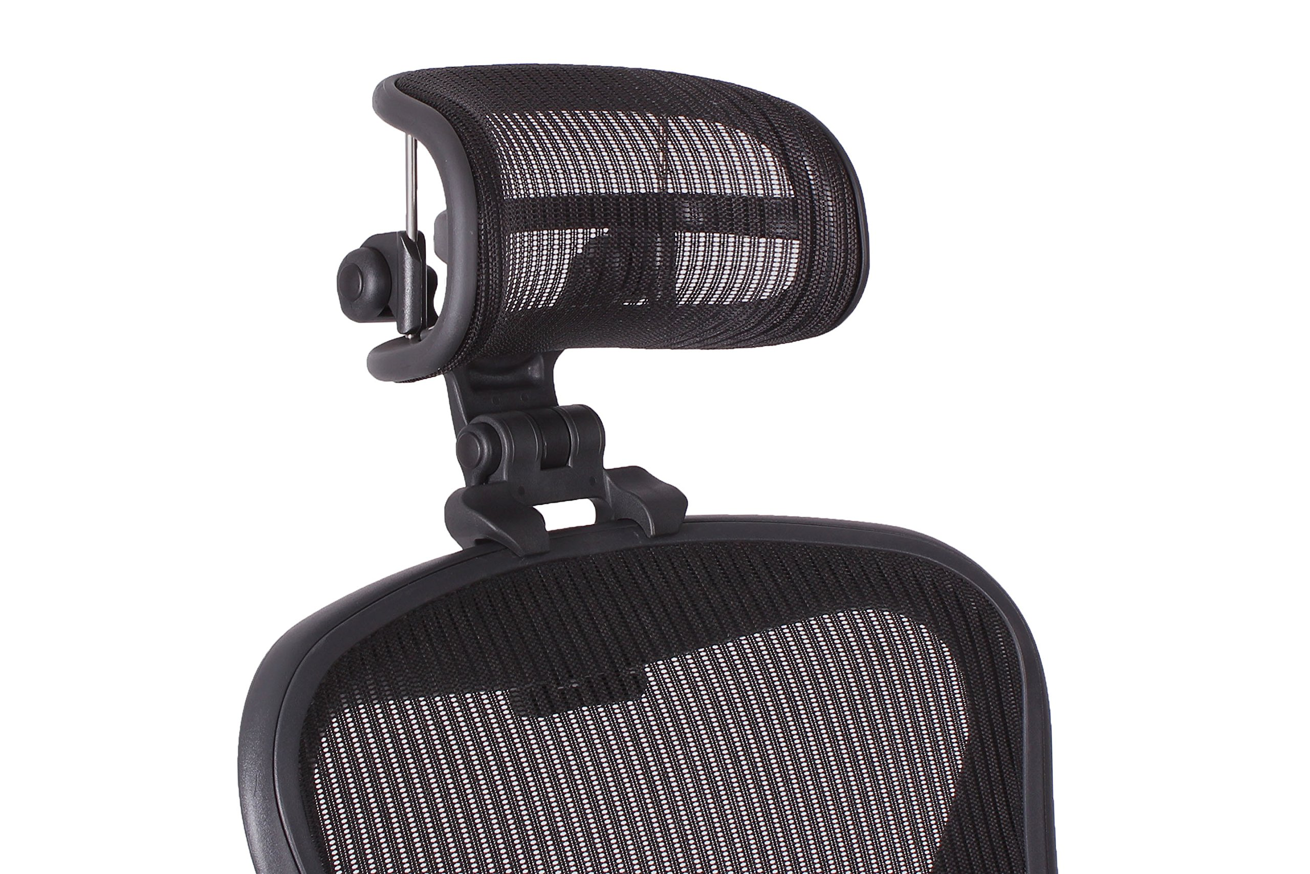 The Original Headrest for The Herman Miller Aeron Chair H3 Carbon | Colors and Mesh Match Classic Aeron Chair 2016 and Earlier Models by Engineered Now