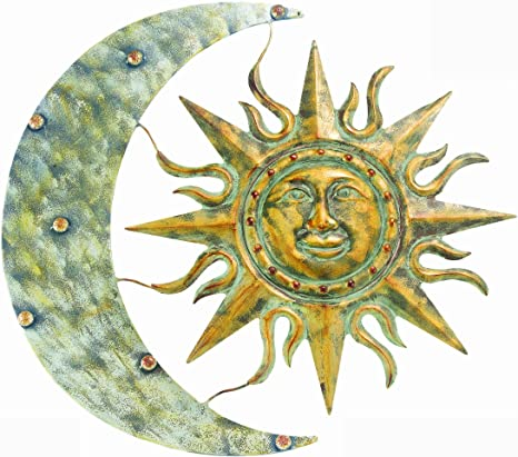 """the Sun and the Stars Metal Wall Art--Genesis Series 6/"""" The Moon"""