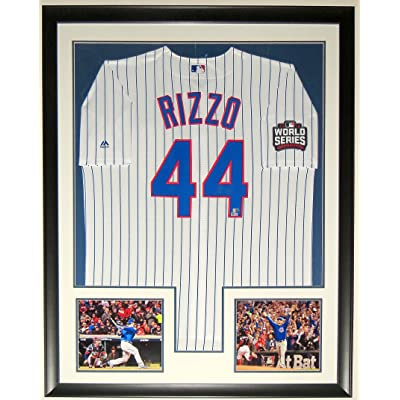 huge discount a0186 122f6 ANTHONY RIZZO SIGNED 2016 WORLD SERIES MAJESTIC CUBS JERSEY ...