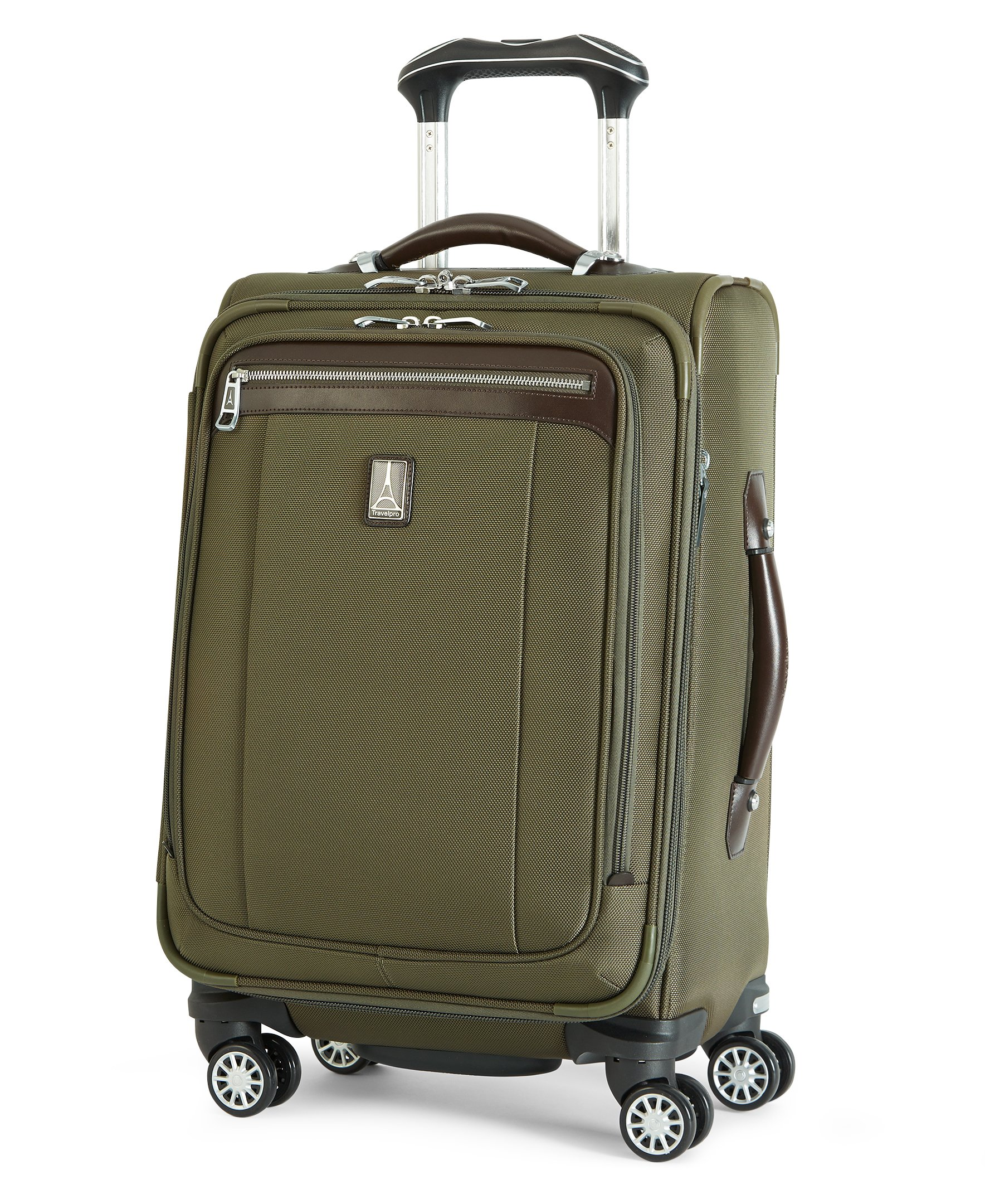 "Travelpro Platinum Magna  2  20"" Expandable Business Plus Spinner , Olive, One Size by Travelpro"