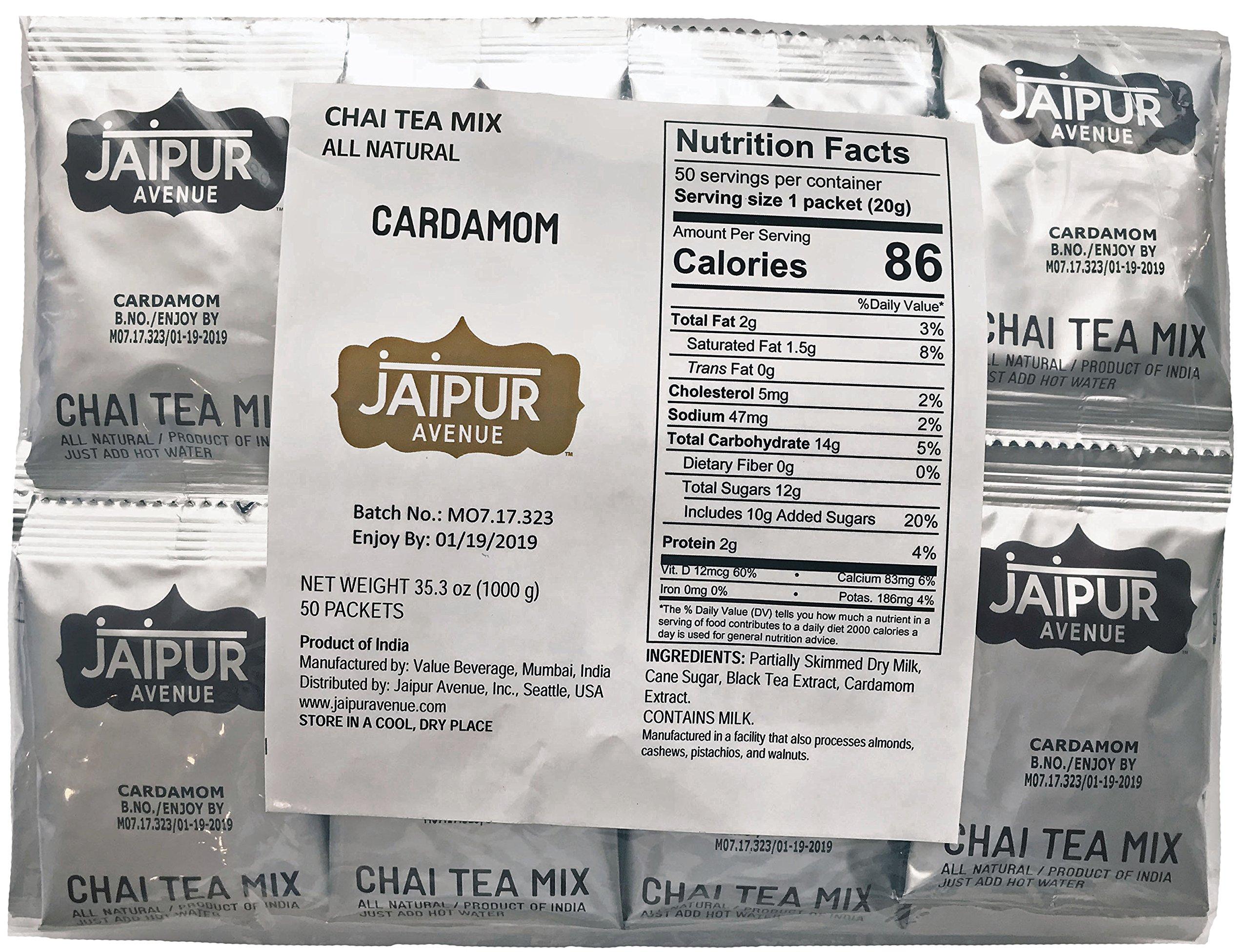 Jaipur Avenue Chai Tea Mix Cardamom (50-Count Bag) by Jaipur Avenue