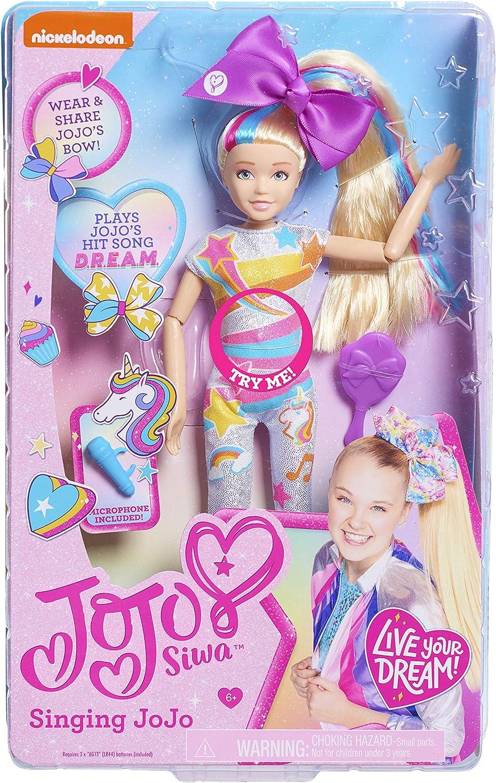 Amazon Com Jojo Siwa Singing Doll Dream Multi Color 10 Inches