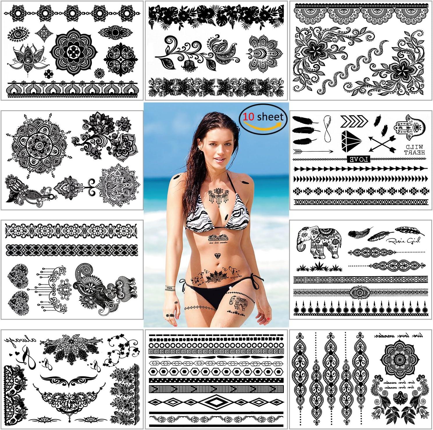 Konsait Falsos joyas Tatuaje temporal impermeable Arte Corporal ...