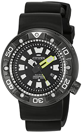 ad823e02706 Image Unavailable. Image not available for. Color  Citizen Men s BN0175-19E Promaster  Diver Analog Display Japanese Quartz Black Watch
