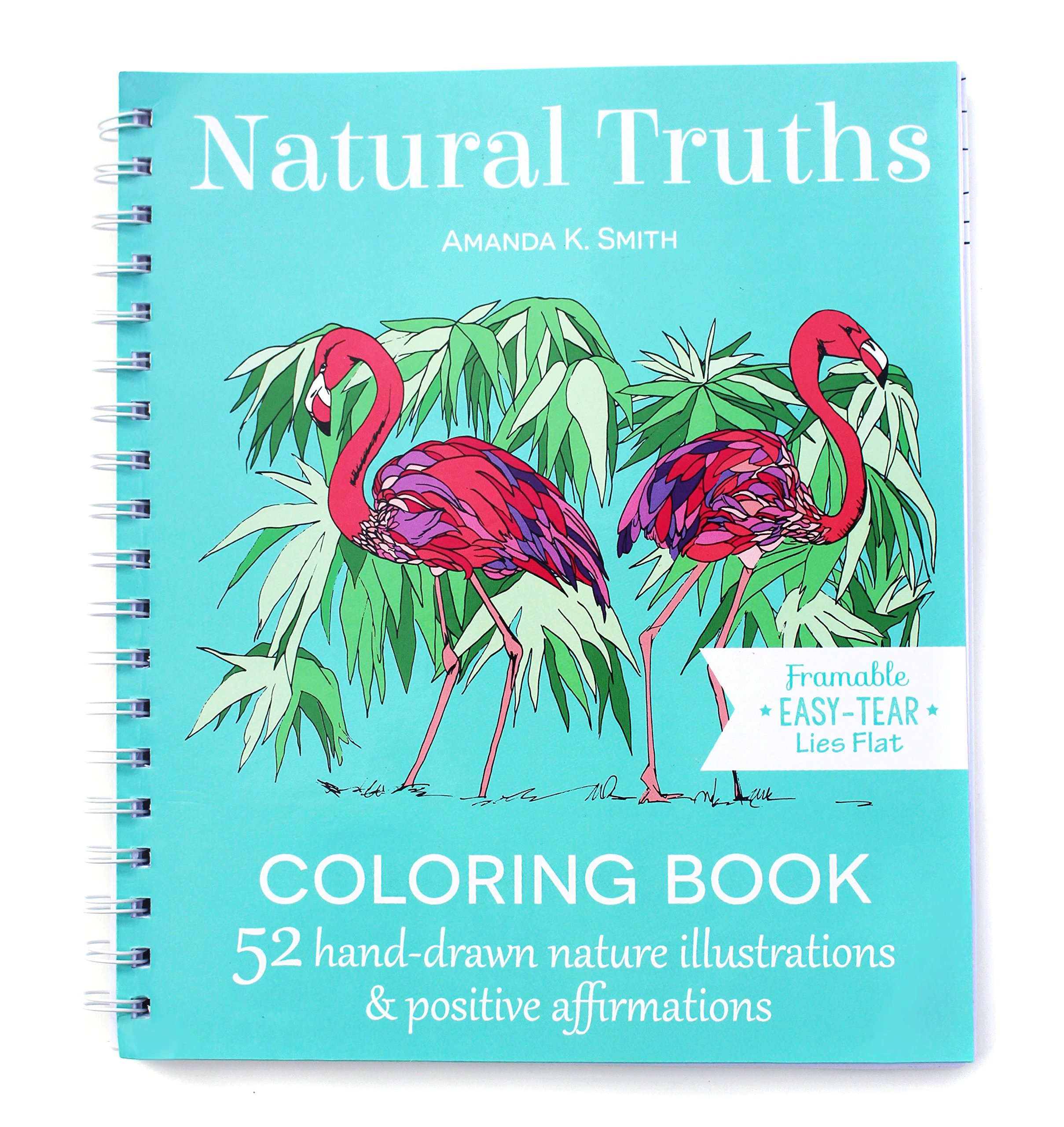 Natural Truths Coloring Book: 52 Nature Illustrations & Positive ...