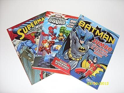 Amazon.com: Batman, Superman and SuperHero Squad Coloring Book ...