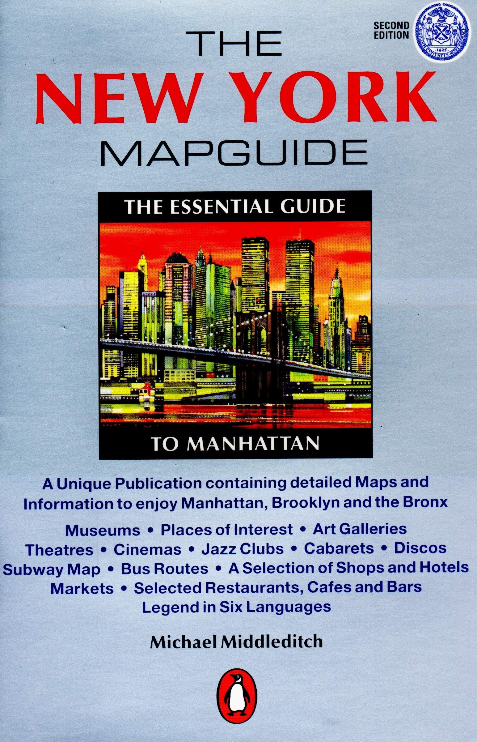 Map Of New York 2001.The New York Mapguide Second Edition Michael Middleditch
